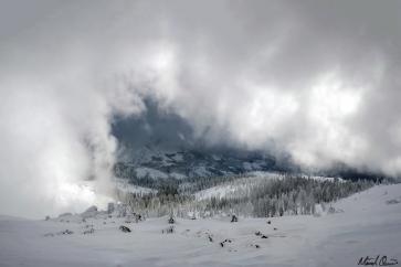 Cloudy Snowscape