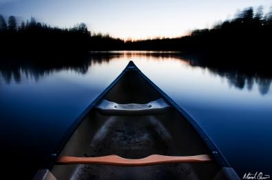 Dusk Canoe