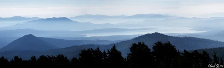 Layered Lassen Mountains