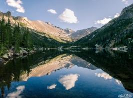 Longs Peak Reflection in Mills Lake