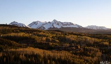 Mountain Village Sunset