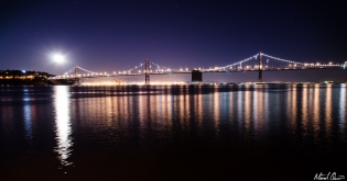 San Francisco Bay Bridge Moonrise