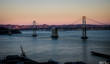 San Francisco Bay Bridge Sunset