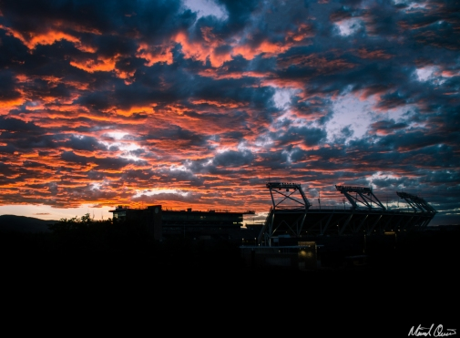 Stadium Sunset Clouds