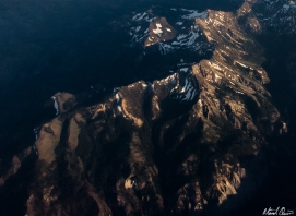 Aerial Mountain Sunset