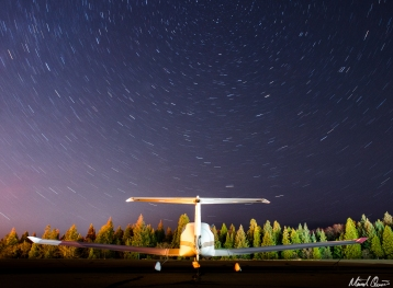 Airplane Star Trails