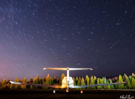 Airplane Star Trails
