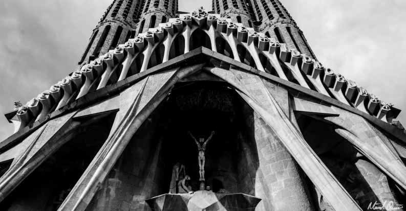 Barcelona La Sagrada Familia Entrance