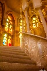 Barcelona La Sagrada Familia Stairs