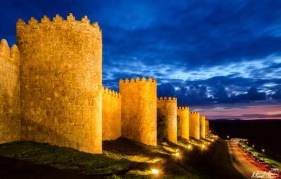 Ávila Spain Walls Night
