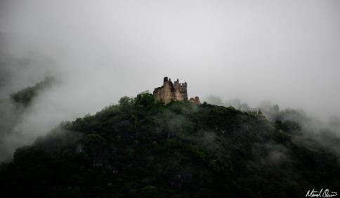 Chateau De Miglos France Fog