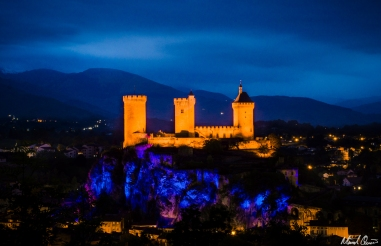 Château de Foix France Night