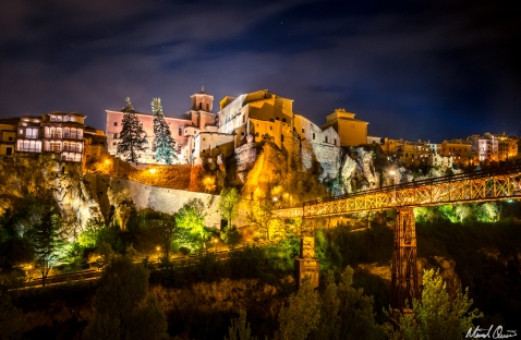 Cuenca Spain Bridge Night