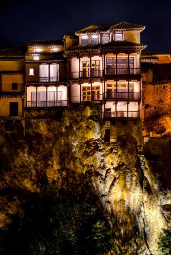 Cuenca Spain Hanging Houses Night