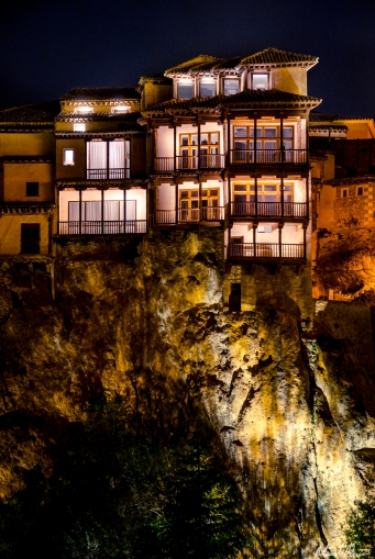 Cuenca Spain Hanging Houses Night
