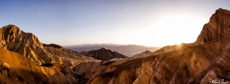 Death Valley Golden Canyon Sunset