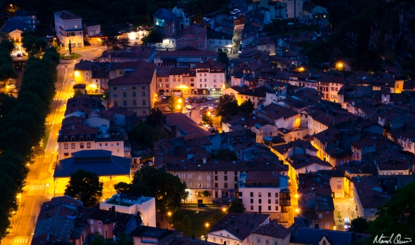 Foix France Terrace View Night