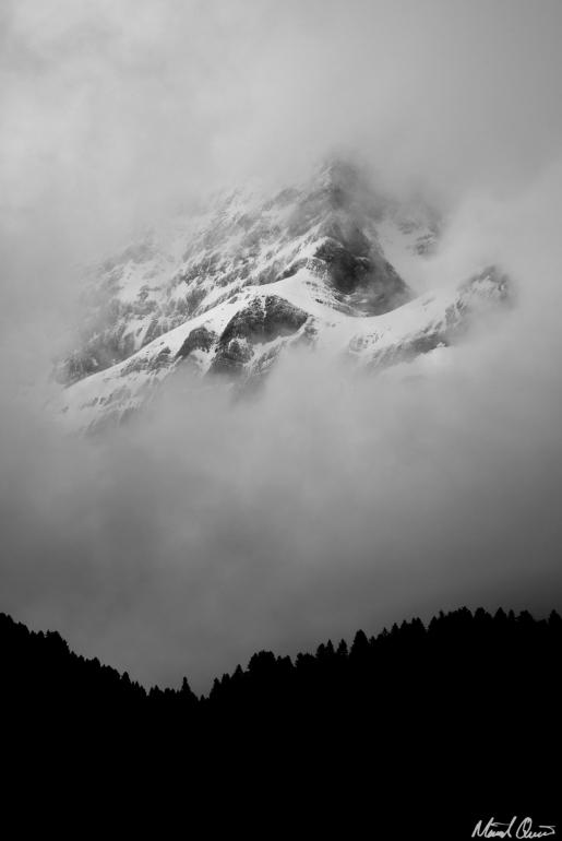 Gavarnie France Pyrenees Foggy Mountains