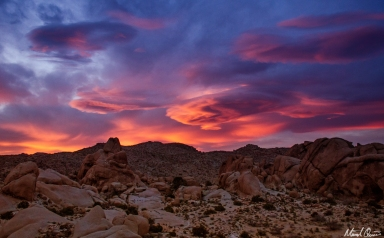 Joshua Tree Split Rock Sunset
