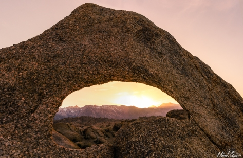 Jumbo Rocks Arch Sunset