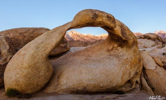 Jumbo Rocks Mobius Arch Sunrise