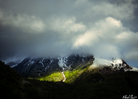 Lourdes France Pyrenees Spring Snow