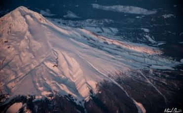 Mount Hood Aerial Sunset