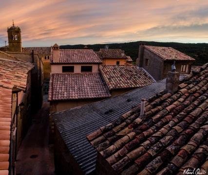 Murillo de Gállego Spain Roof Sunset