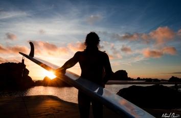 Northern California Sunset Surfboard