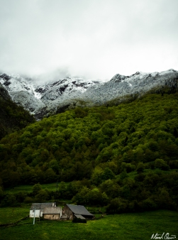 Pyrenees France Spring Snow Cabin