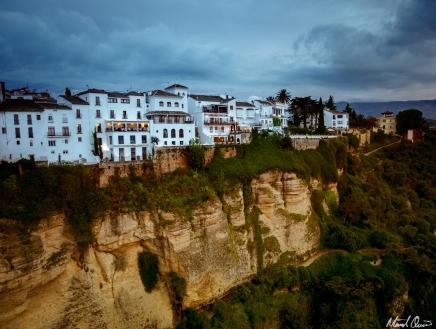 Ronda Spain Puente Nuevo Cliff Restaurant