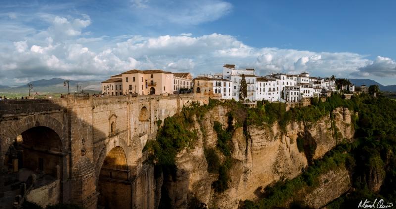 Ronda Spain Puente Nuevo Cliff Sunset