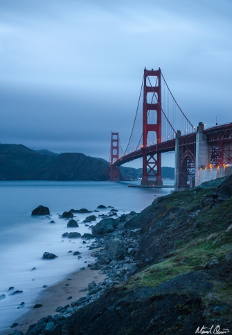 San Francisco Golden Gate Bridge Blue Hour