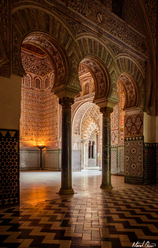 Seville Spain Alcazar Arches