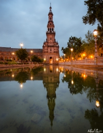 Seville Spain Plaza de Espana Reflection