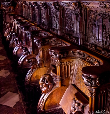 Toledo Spain Cathedral Choir Seat Carvings