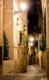 Toledo Spain Night Stone Street