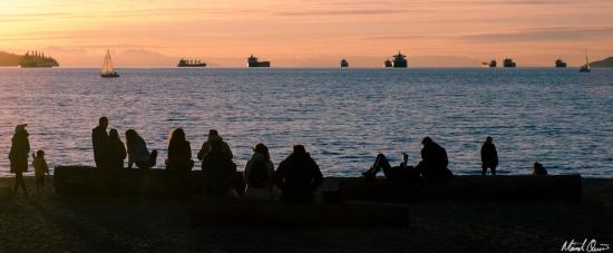 Vancouver Seashore Sunset
