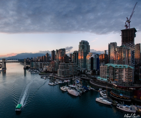 Vancouver Sunset City Skyline