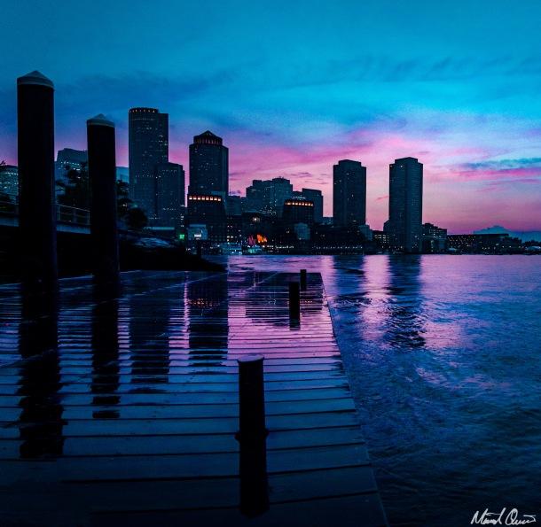 Boston Seaport Sunset