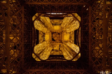 Eiffel Tower Straight Up