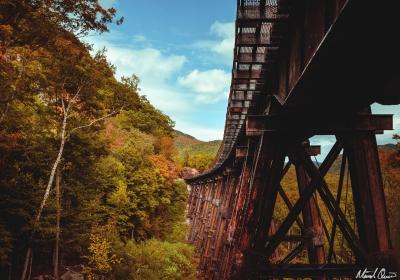 Frankenstein Trestle Autumn White Mountains