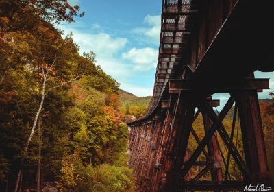 Frankenstein Trestle Autumn White Mountains