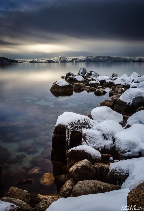 Lake Tahoe Sunset Icicles