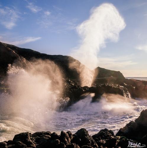 Oregon Coast Blow Hole Sunset