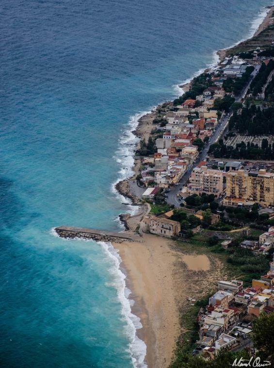 Palermo Beach From Mount Pellegrino
