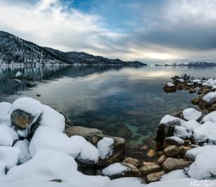 Snowy Lake Tahoe Sunset