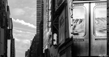 Time Square Train Advertisement