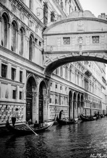 Venice Bridge of Sighs Gondolas