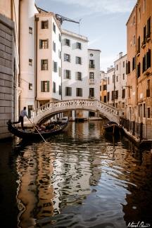 Venice Gondola Ride Reflection